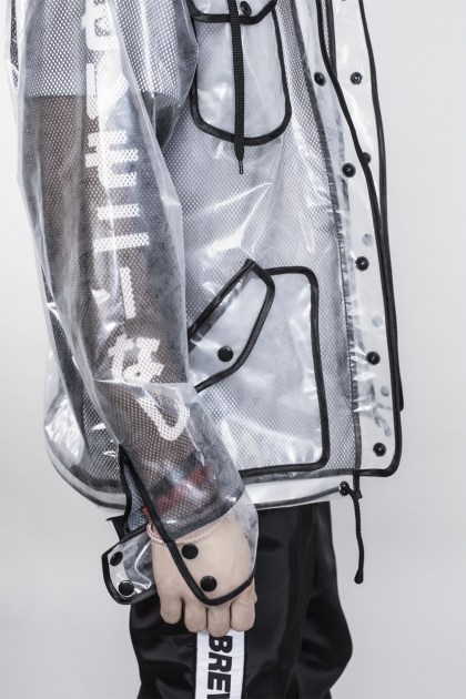BLACK TRANSPARENT JACKET